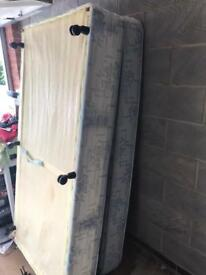 Free for collection single bed, mattress and base