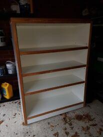 Large heavy duty book shelf on castors