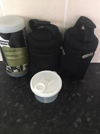Tommee Tippee Flask, Bottle Bags and Formula Dispenser