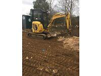 Komatsu excavator digger