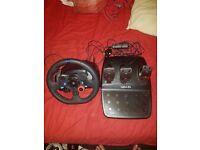 Logitech G29 Steering wheel +pedals