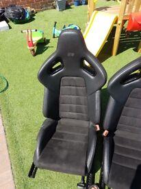 mk6 golf r recaro wingback seats