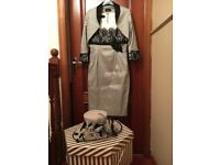 Designer inspirato mother of the bride/groom dress jacket and hat