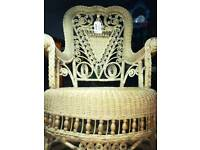 Absolutely beautiful antique wicker rocking chair