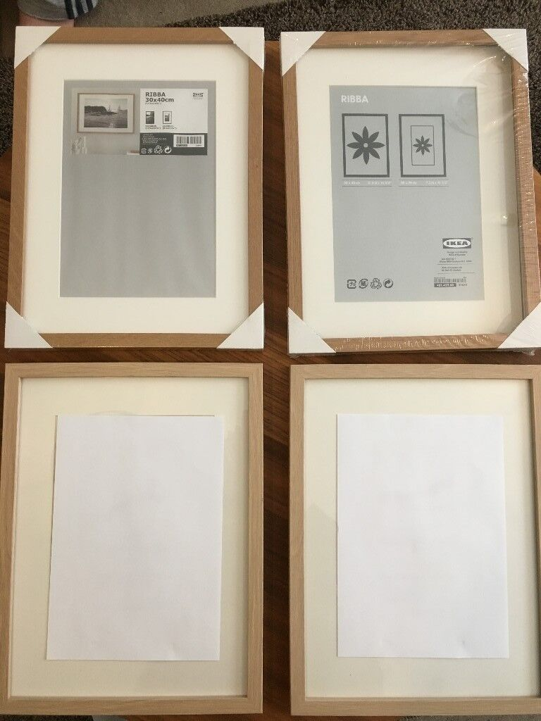 4 RIBBA Ikea frames ( all brand new, 2 opened & 2 unopened) 30x40 cm ...