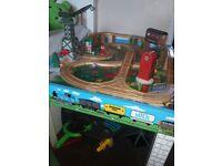 Thomas tank train table and track