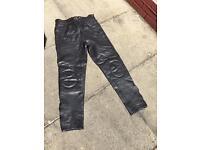 Men's Apache Leather Motorbike Jeans size 34