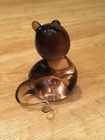 Murano glass cat signed by artist