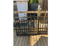 Pair of wrought iron heavy duty gates and small side gate