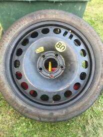 Space saver wheel used which Zafira but fits all mk5 vauxhall £20