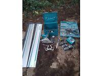 makita plunge saw sp6000j hammer drill charger 6 x 18v Makita batteries
