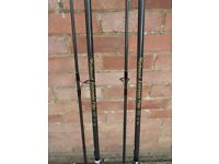 "Pr Wychwood ""Extremis"" 12ft x 3lb TC Pike/Carp Rods - (A2226) Mint condition"