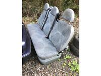 Triple rear van seat with belts and isofix