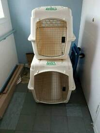 Airline approved Vari Kennel Dog Crate X 2