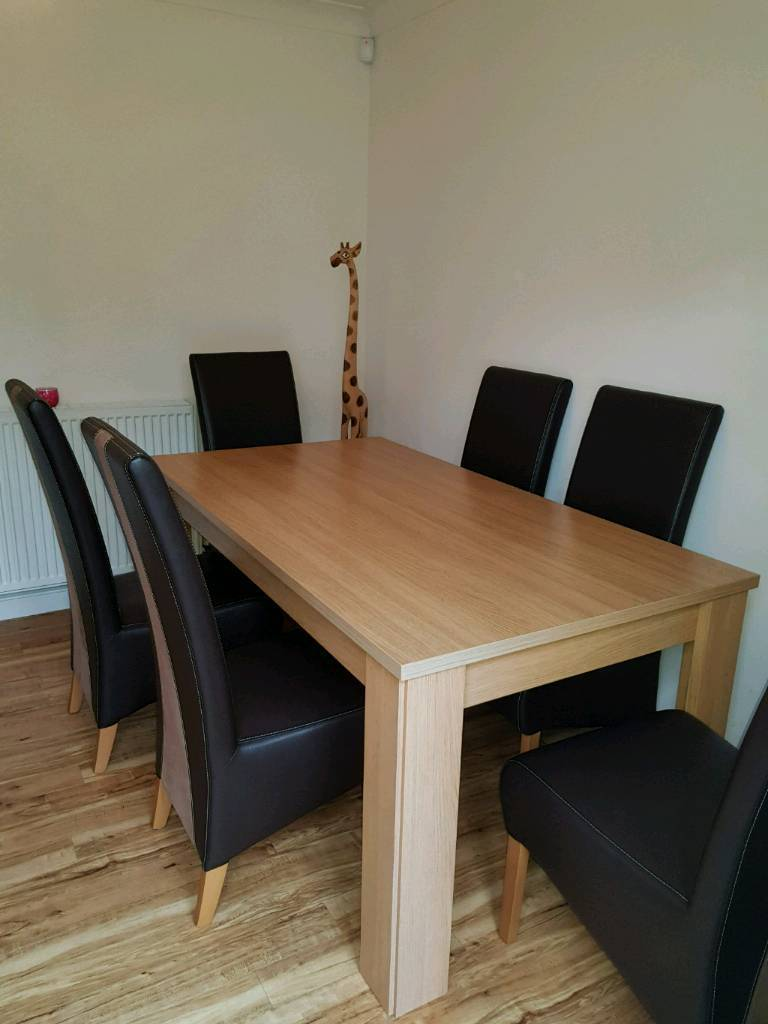 Harveys oak effect dining table and 6 chairs | in Falkirk ...
