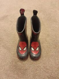 Spiderman wellies - infant size 6