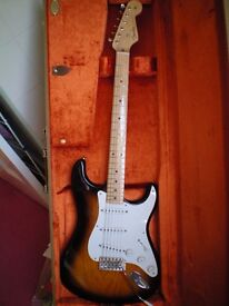 Fender 60th Anniversary 1954 Stratocaster Reissue, Limited Edition, all strat case candy. USA made.