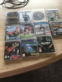 PS 3 bundle with 2 remotes and 11 games including FIFA17