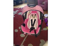 Minnie Mouse newborn baby car seat