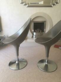 Pair pair of magis bombo chairs with adjustable height