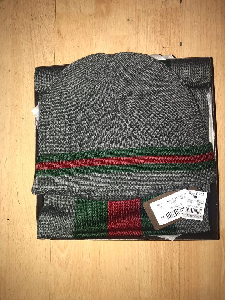Gucci hat and scarf combo  3f4d78fb963