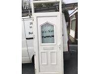 Exterior UPVC front door frame size 900mm width and height 2380mm