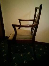 2 Mahogany carver chairs