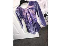 Purple believer dancing/skating dress