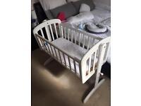 John Lewis bedside swigging cot