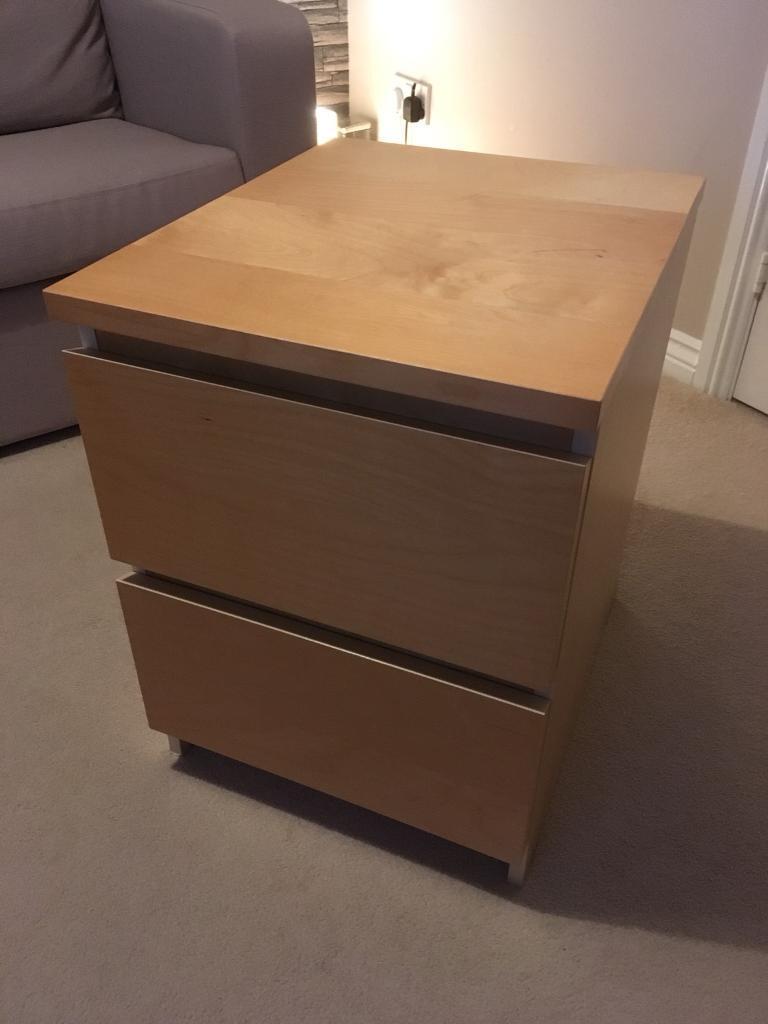 ikea drawers office. IKEA Malm Beech Bedside/Office Drawers Ikea Office T