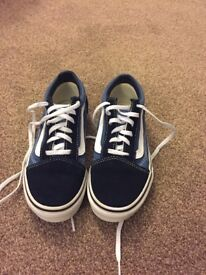 Brand new Vans. Size 1. Worn once.