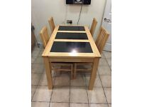 Dinning table and 4 chairs