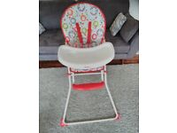 £10 Red kite highchair in excellent condition