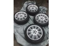4 x Triton Alloy Wheels 18 inch with tyres