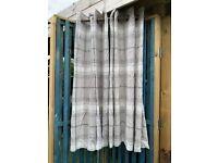 Next Tartan curtains eyelet natural (53in x 54in)