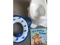 Potty, Toilet Training Seat and Book