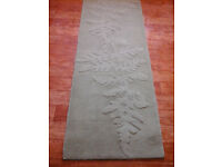 """NEXT 100% wool,green,long rug/runner.205cms x 69 cms(80""""x 27"""")approx."""