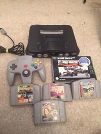 Nintendo n64 console and games