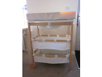 Wooden changing table unit station integrated bath by Roba