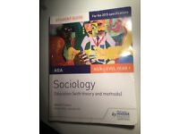 Sociology AQA Education (with theory and methods) Student Guide by Dave O'Leary