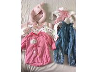 Baby girl clothes bundle - up to 1 month - 38 items