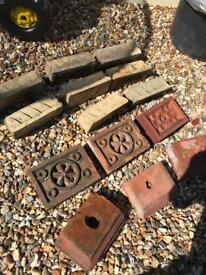 Very rare Belfast brick vents and special brick antique vintage
