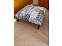 large designer footrest footstool patchwork study lounge unit living room or bedroom