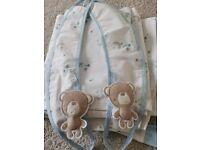 Baby boy nursery Teddy curtains eyelet