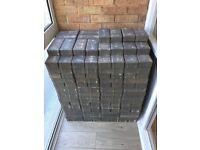 340 x Marshalls Burnt Ochre & 190 x Marshalls Charcoal Paving Blocks