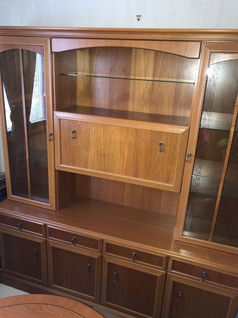 Glass Display Unit Sideboard Cabinet Dresser In Scone
