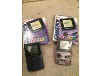 2 x boxed gameboy color consoles