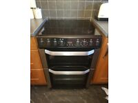 Belling Freestanding Black and Silver Electric Cooker