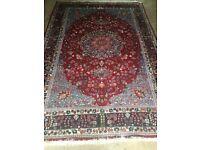 Superb quality red and blue Persian rug
