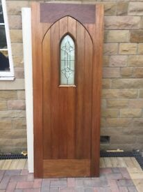 Solid oak external door